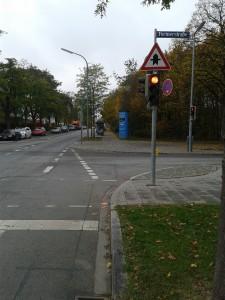 Das Ende der Schleißheimer Straße