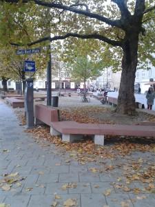 Rudi-Hierl-Platz - Beginn der Schleißheimer Straße