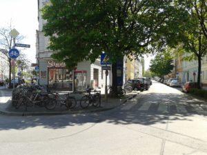 Beginn Balanstraße an der Rosenheimer Straße